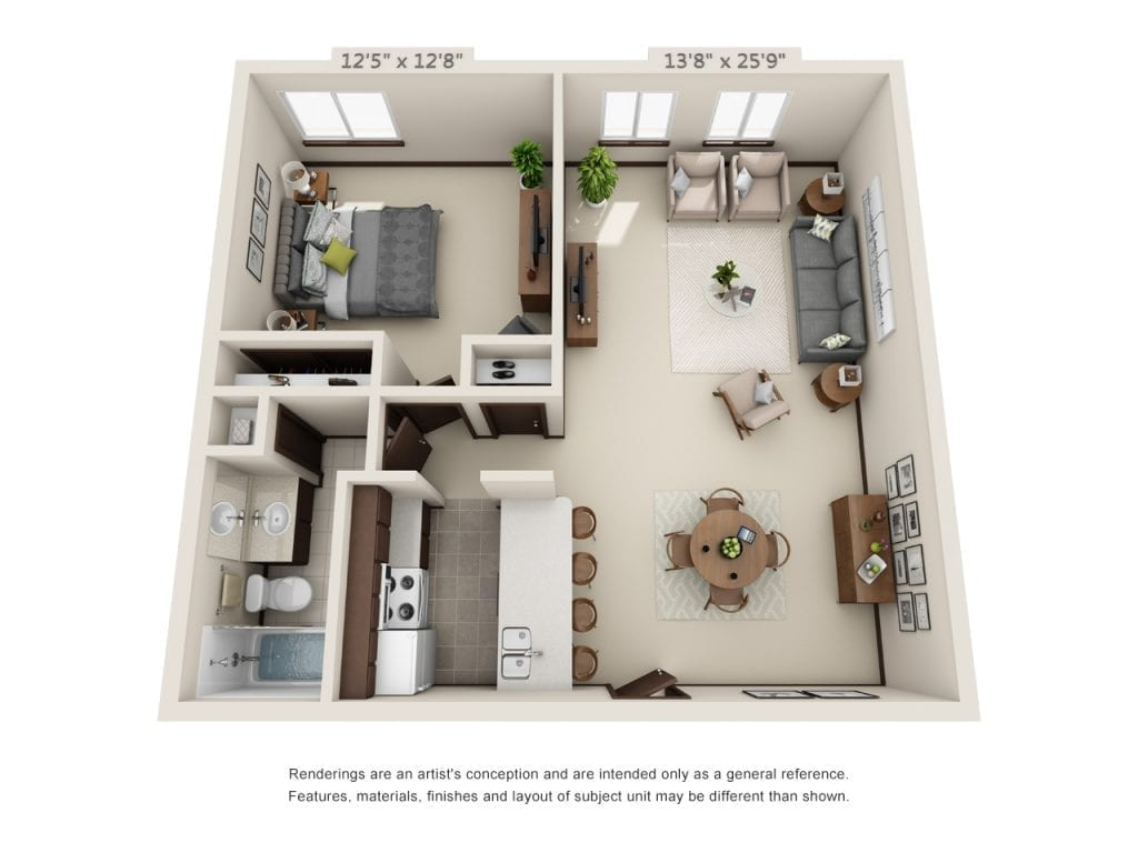 Oak-Park_1-Bedroom