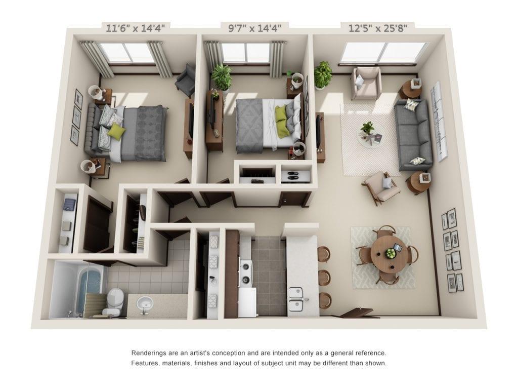 Oak-Park_2-Bedroom